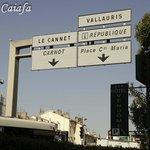 Esquina da localização do Hotel, Cannes