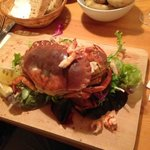 Lovely crab with crawfish