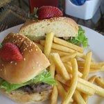 Burger at the Grill