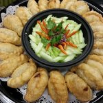 Curry puff party tray.