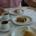 The best desert ever - The almond paste with ice cream- YUM