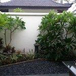 Small private garden of the villa
