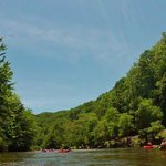 Paddling on the Tuckaseegee