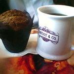 pumpkin spice muffin & coffee $4.50