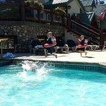 My 3 year old enjoying the pool