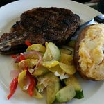 steak and twice baked potato