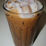 Ice white coffee