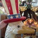 ostrich carousel seat