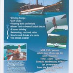 Damai Indah presents the First and Only Floating Driving Range on Langkawi !