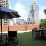 Private balcony from Siri Sathorn's guest room (One Bedroom Terrace Suite)