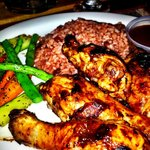First meal when we arrived -jerk chicken-bomb!