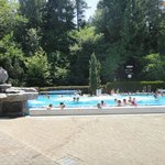 Warm Outdoor Pool - most pools can be entered indoors - useful for Winter
