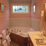 Two person jetted tub in Monet Room