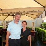 The wonderful Hilary and a grateful customer
