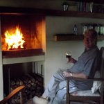Richard enjoying your log fireplace