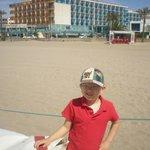 vista al hotel desde la playa