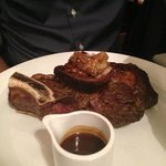 côte de bœuf, moelle et ses croquettes de pdt