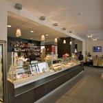 Großes, modernes Cafe