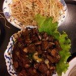 boeuf thai et nouilles sautées nature, un délice.
