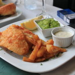 Cod and Chips with mushy peas