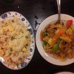 porc au curry et riz cantonais