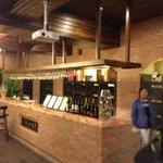 The underground wine tasting area