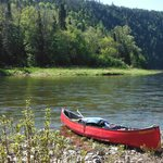 Canoe on the Restigouche