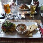 Yummy main courses at The Bean Inn
