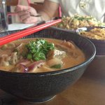 Duck and lychee red curry with spicy noodle