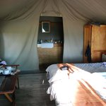 Mankwe inside our tent