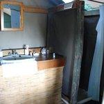 Mankwe bathroom note the glass pot with washing powder