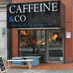 Caffeine & Co is not hard to spot once you actually get to St James' Square!