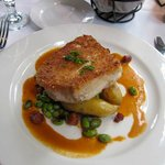 Halibut with lobster sauce