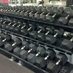 Free weights up to 110 lbs