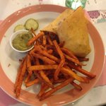 southwest chicken wrap sweet potatoe fries