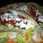Fish Tacos with Garlic Sauce