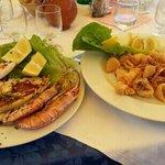 Grigliata mista e frittura di calamari