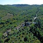 Areal view of Tenuta di Ricavo and surroundings