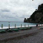 la spiaggia di Fornillo