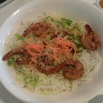 Grilled shrimp with noodles (ADD HERBS FOR FLAVOR!!)
