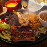 Ribs, Beef, and Chicken Fajita Combo