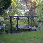 A delightful seat, Riverbank House garden