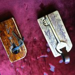 Rustic room keys!