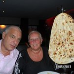 the biggest naan you ever did see.