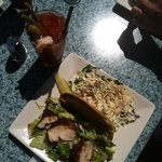 blackened chicken Cesar with cole slaw & Bloody Mary