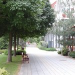 Footpath on hotel grounds
