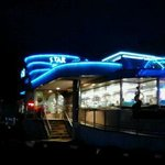 Star Diner-night view showing neon exterior lighting