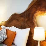 Headboards and other furniture made from on-site hardwood