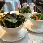 Green Salad and Braised Peas