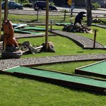 The mini golf course next door